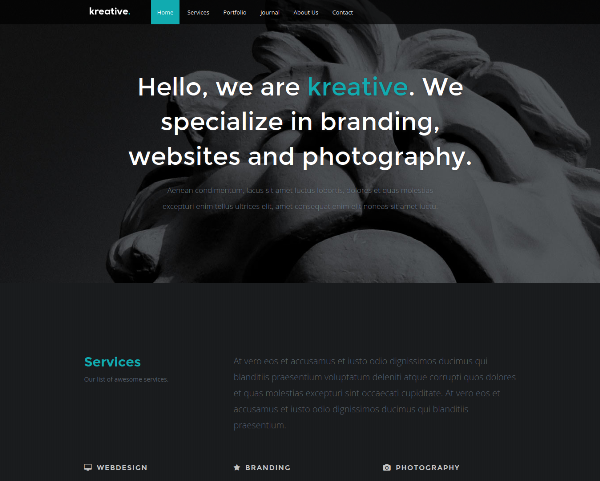 Kreative Responsive html5 css3 template