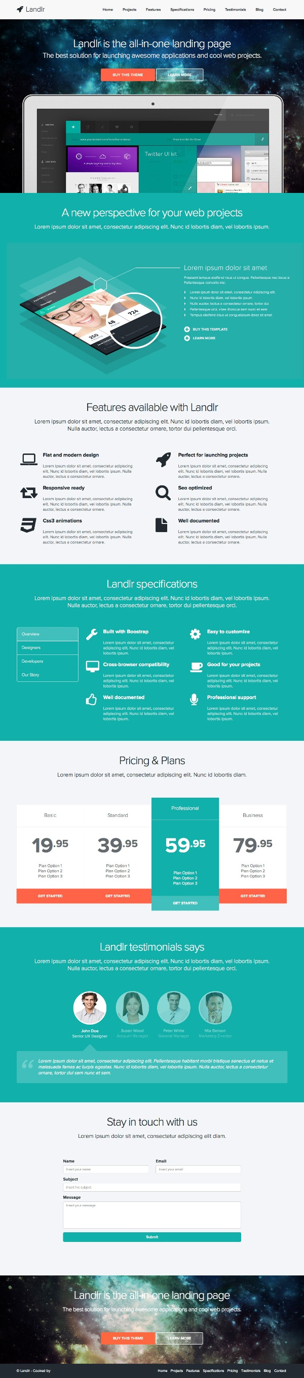 Landlr – The All-in-One WordPress Landing Page