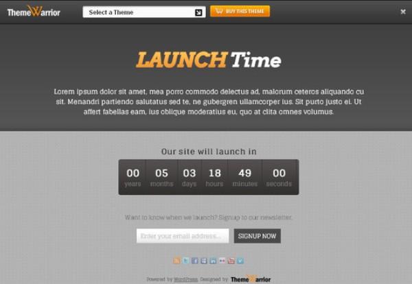 LaunchTime WordPress Theme