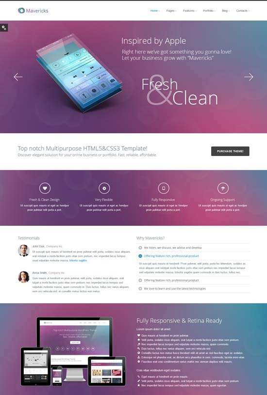 Mavericks-Business-Portfolio-Web-Template
