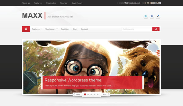 Maxx Business WordPress Theme
