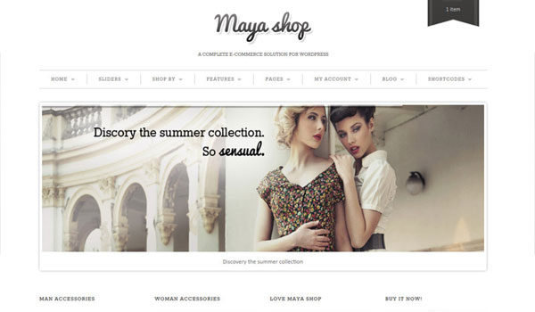 Mayashop Business WordPress Theme