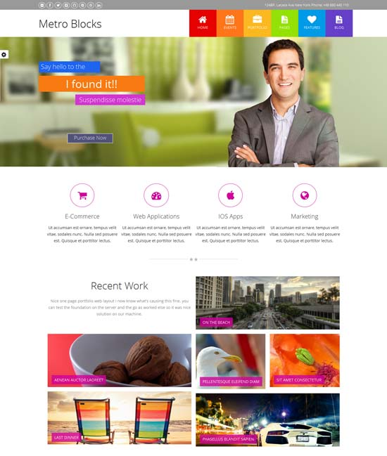 Metro-Blocks-Multi-Purpose Drupal 7 Themes