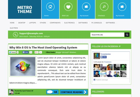 Metro-UI-Blogger-Template