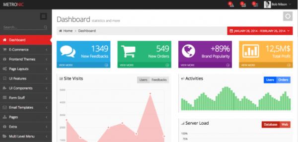 Metronic Admin Dashboard