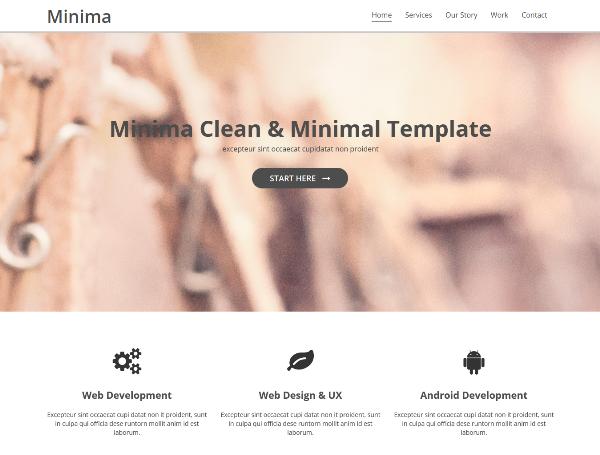Minima – Free Bootstrap Business Theme