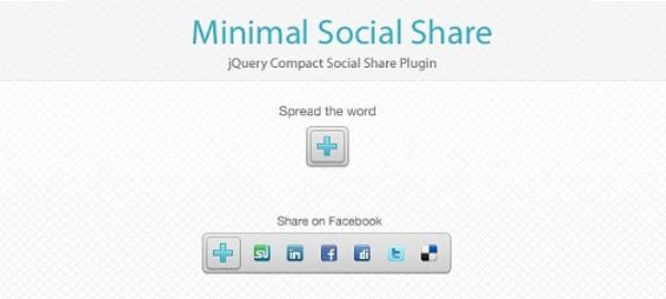 Minimal Social Share
