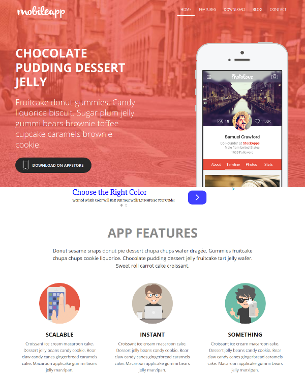 Mobileapp – Free Bootstrap Responsive Web Template