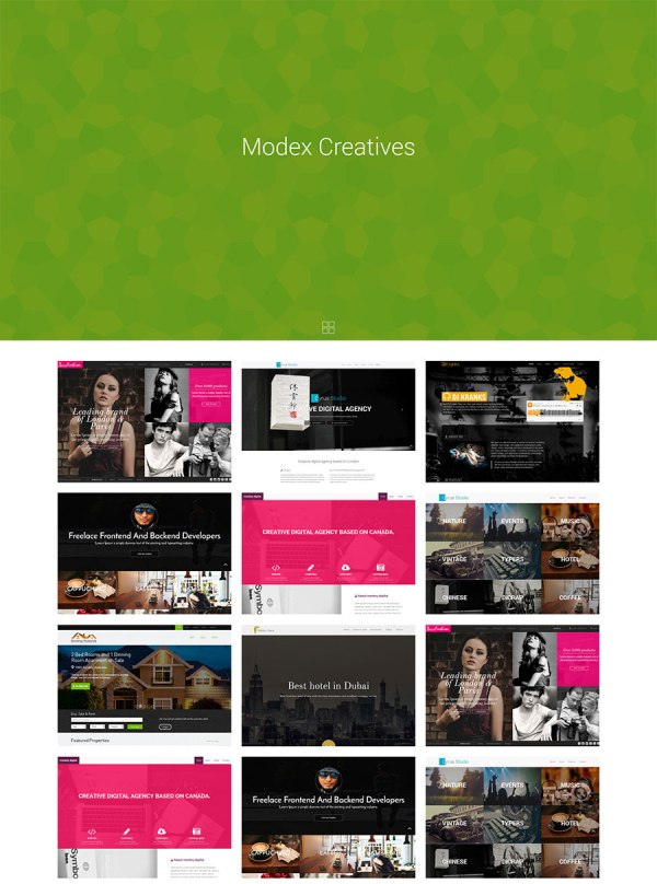 Modex Creatives – bootstrap portfolio theme