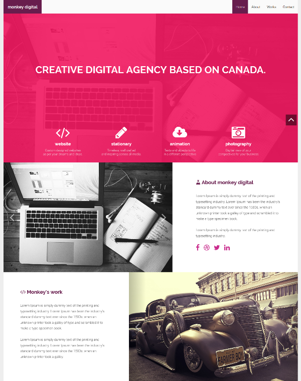 Monkey Digital – Agency Bootstrap Theme