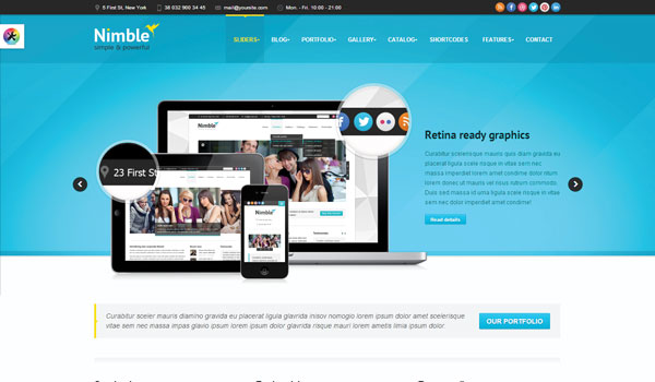 Nimble Business WordPress Theme