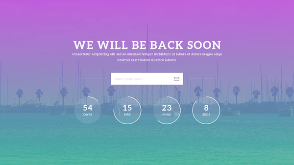 Notify – Free Beautiful PSD & HTML5 Coming Soon Template