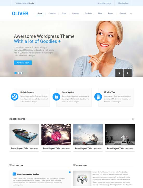 35 free premium business website templates oliver responsive business bootstrap3 html5 template friedricerecipe Choice Image