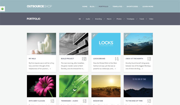 Outsource Business WordPress Theme