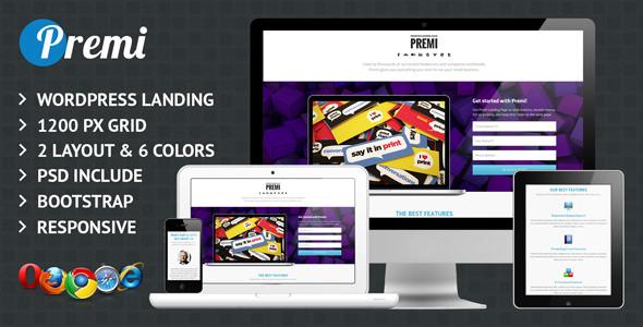 Premi - Premium Business WordPress Landing Page