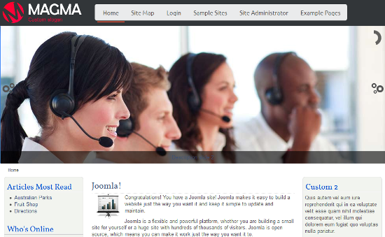 Professional Business Joomla 3.0 template with Slider - Copy