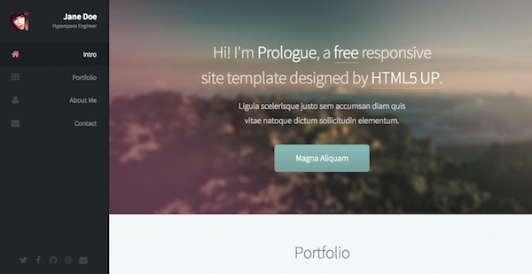 25+ Fresh and Free HTML5 Website Templates