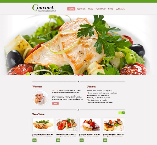 Restaurant HTML5 CSS3 Website Template