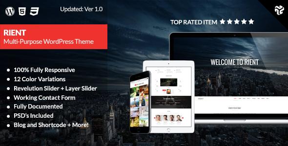 Rient Multi-Purpose WordPress Theme