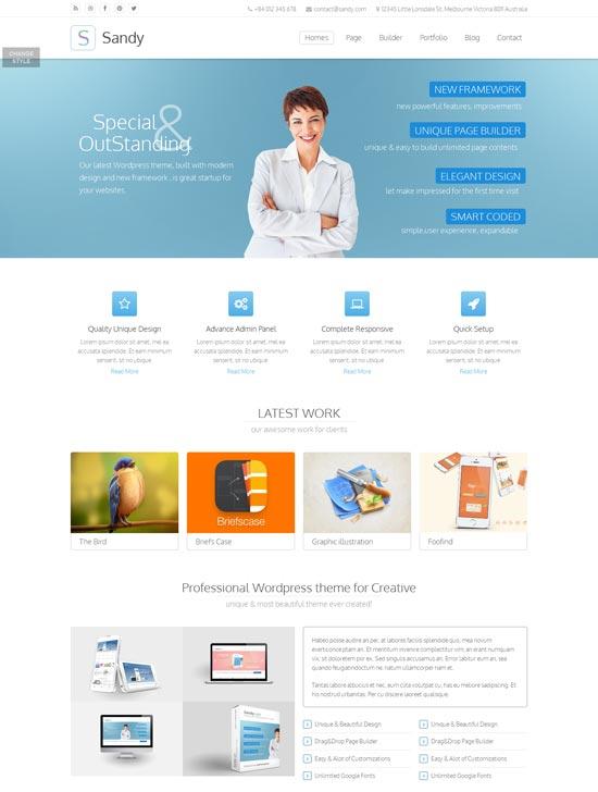 Sandy-Truly-Premium-Wordpress-Theme