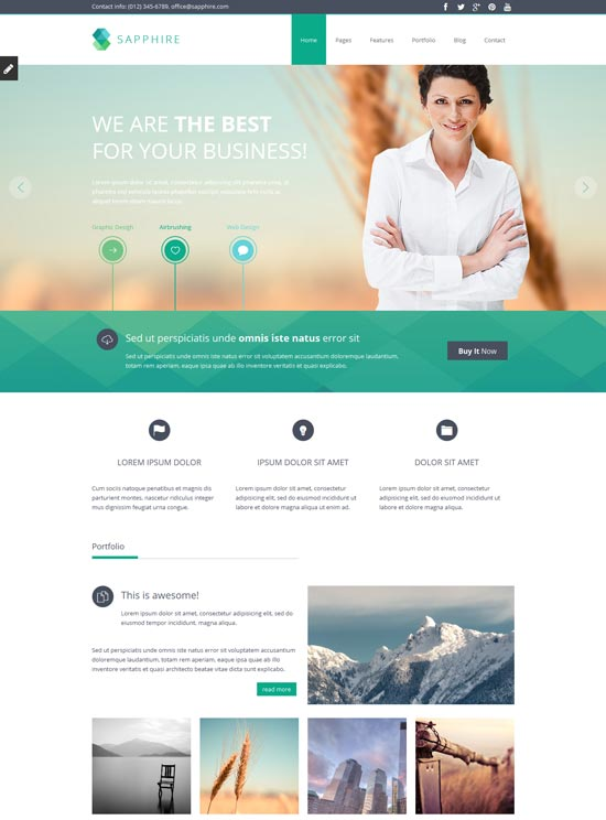 35 free premium business website templates sapphire responsive business website template wajeb Images