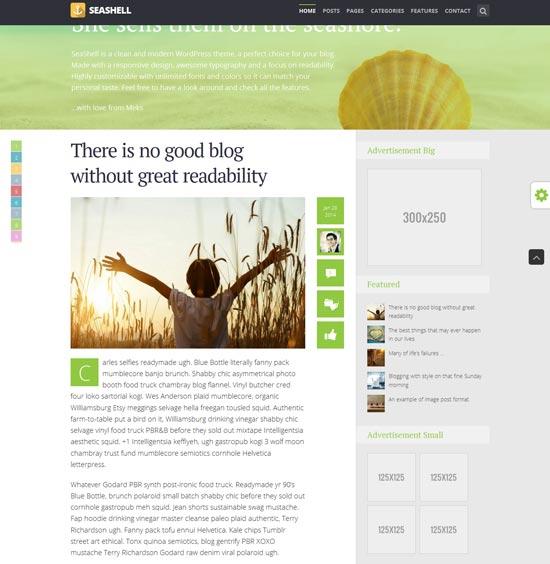 SeaShell-best-wordpress-theme-february-2014