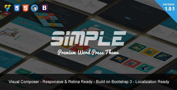 Simple One Page Bootstrap WordPress Theme