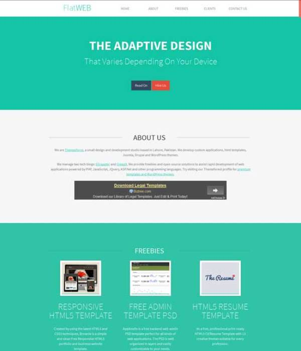 Free Responsive HTML CSS Website Templates - One page website template html5 responsive free download