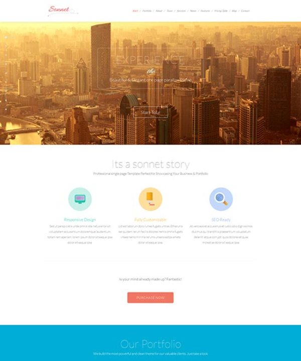 Sonnet-innovative-flat-design-template