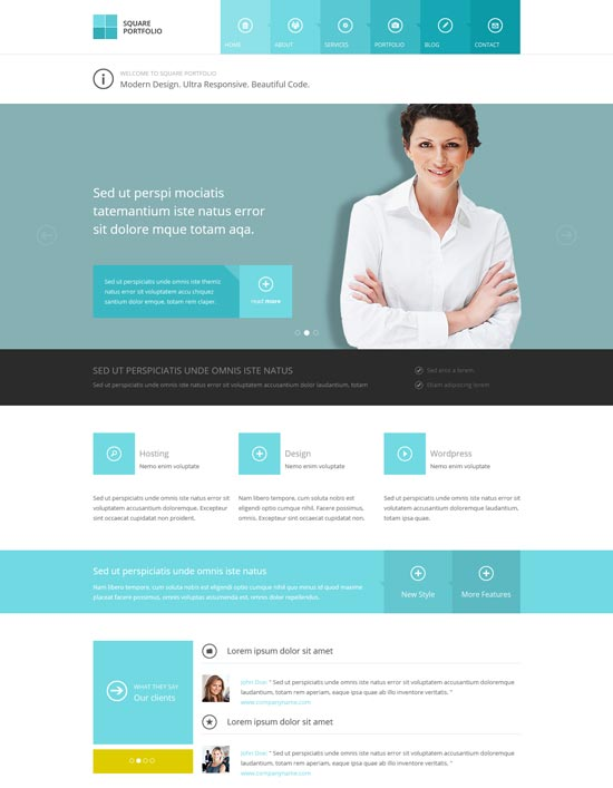 35 free premium business website templates square responsive html business template flashek
