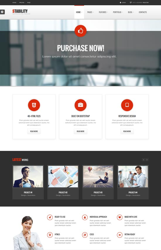 35 free premium business website templates stability responsive business template accmission