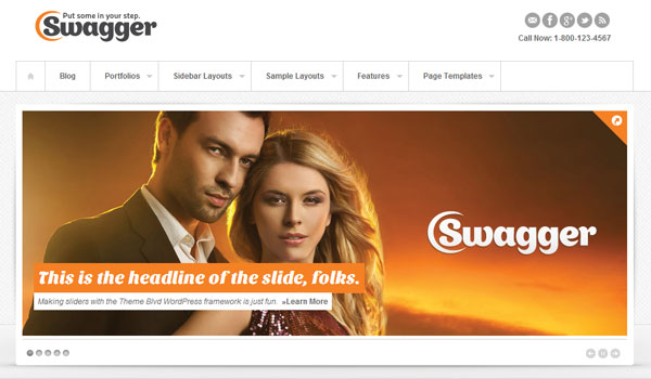 Swagger Business WordPress Theme