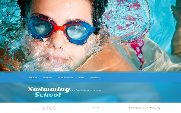 Swimming School Template