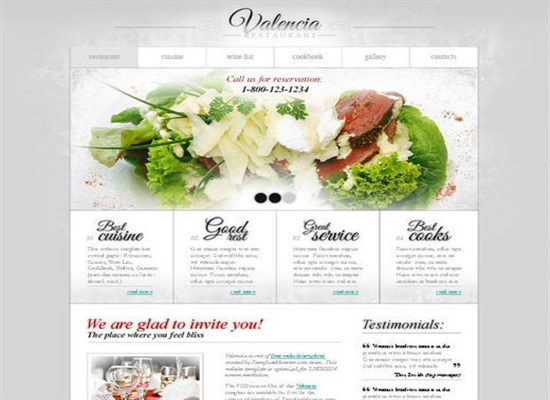 Template for Restaurant Business