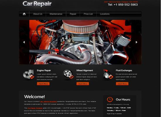 Template with jQuery Slider for Car Project