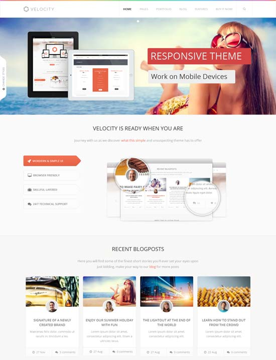Velocity-Feature Rich Drupal 7 Theme