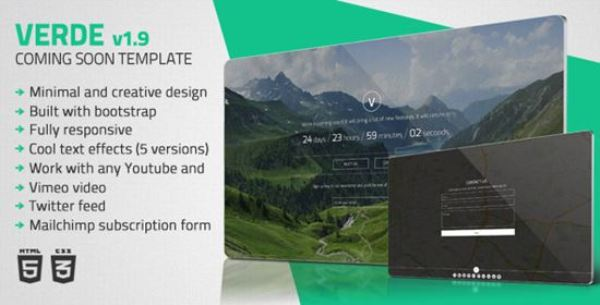 Verde – Minimal Coming Soon Template