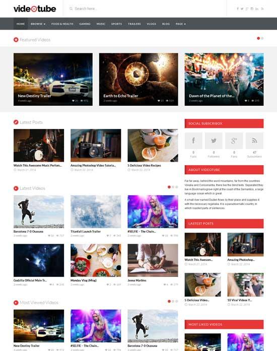 VideoTube-best-wordpress-theme-march-2014