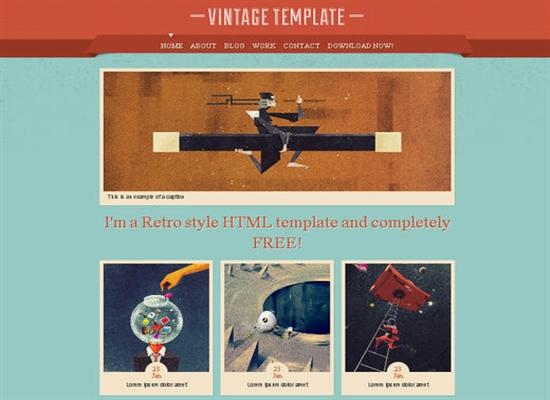 Vintage – HTML Template