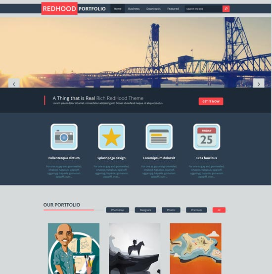 free-Red-Hood-Portfolio-Blogger-Template