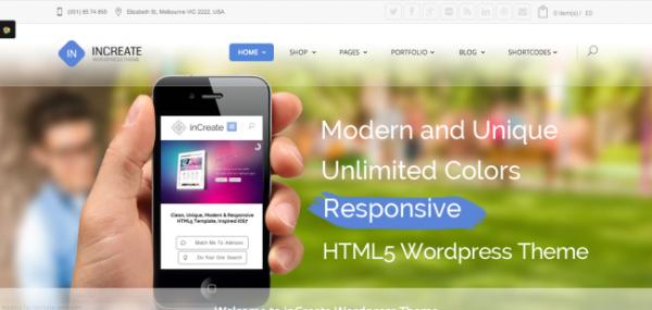 inCreate - Premium Responsive WordPress Themes