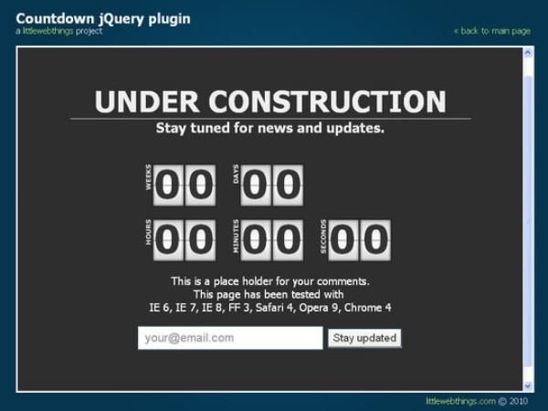 jQuery Countdown Script