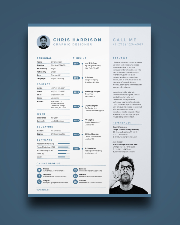 Free Resume Templates traditional resume template Ultra Minimal Resume
