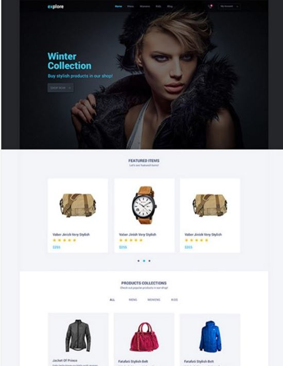 Explore Free Website PSD Templates