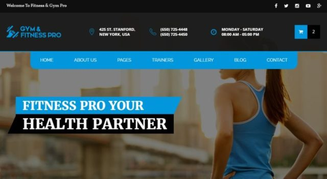 GYM Fitness Pro Health and Beauty HTML Templates