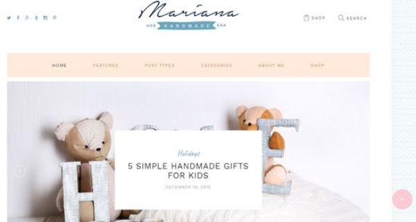 Mariana WordPress Magazine Blog Themes 2016