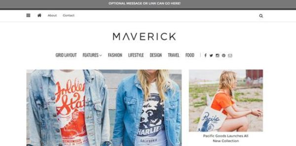 Maverick WordPress Magazine Blog Themes 2016