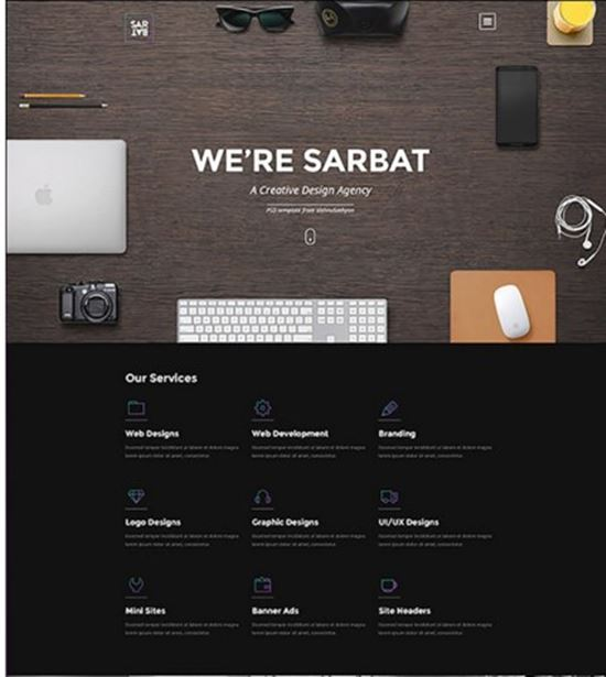 Sarbat Free Website PSD Templates