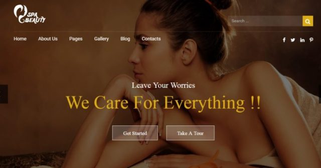 Spa Saloon Health and Beauty HTML Templates