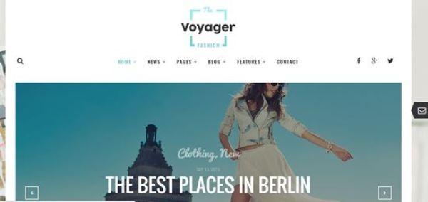 Voyager WordPress Magazine Blog Themes 2016
